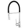 Nuovo Single Lever Monobloc Kitchen Sink Tap with Flexible Spout profile small image view 1