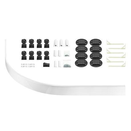 Leg + Panel Riser Kit for White Slate Quadrant + Offset Quadrant Trays