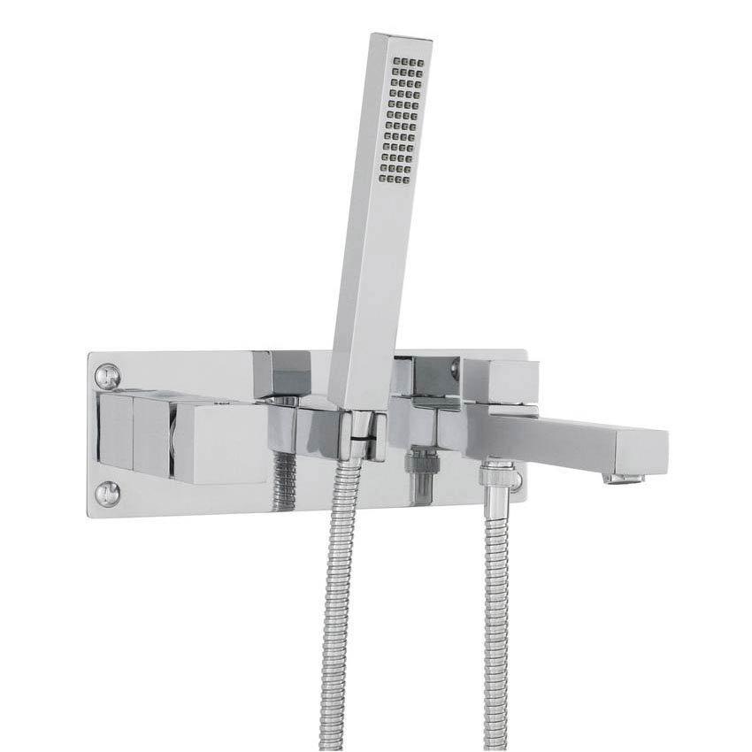 Hudson Reed Kubix Wall Mounted Bath Shower Mixer - Chrome - KUB350 Large Image