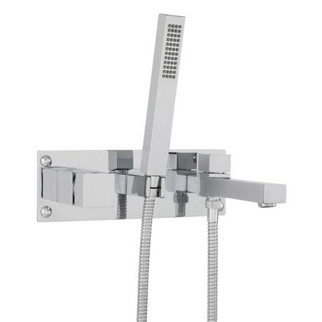Hudson Reed Kubix Wall Mounted Bath Shower Mixer - Chrome - KUB350