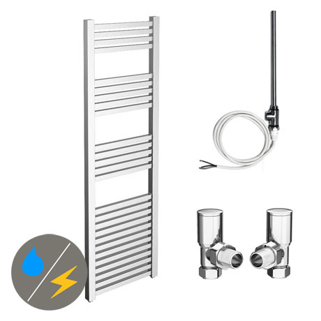Cube 500 x 1600mm Heated Towel Rail (Inc. Valves + Electric Heating Kit)