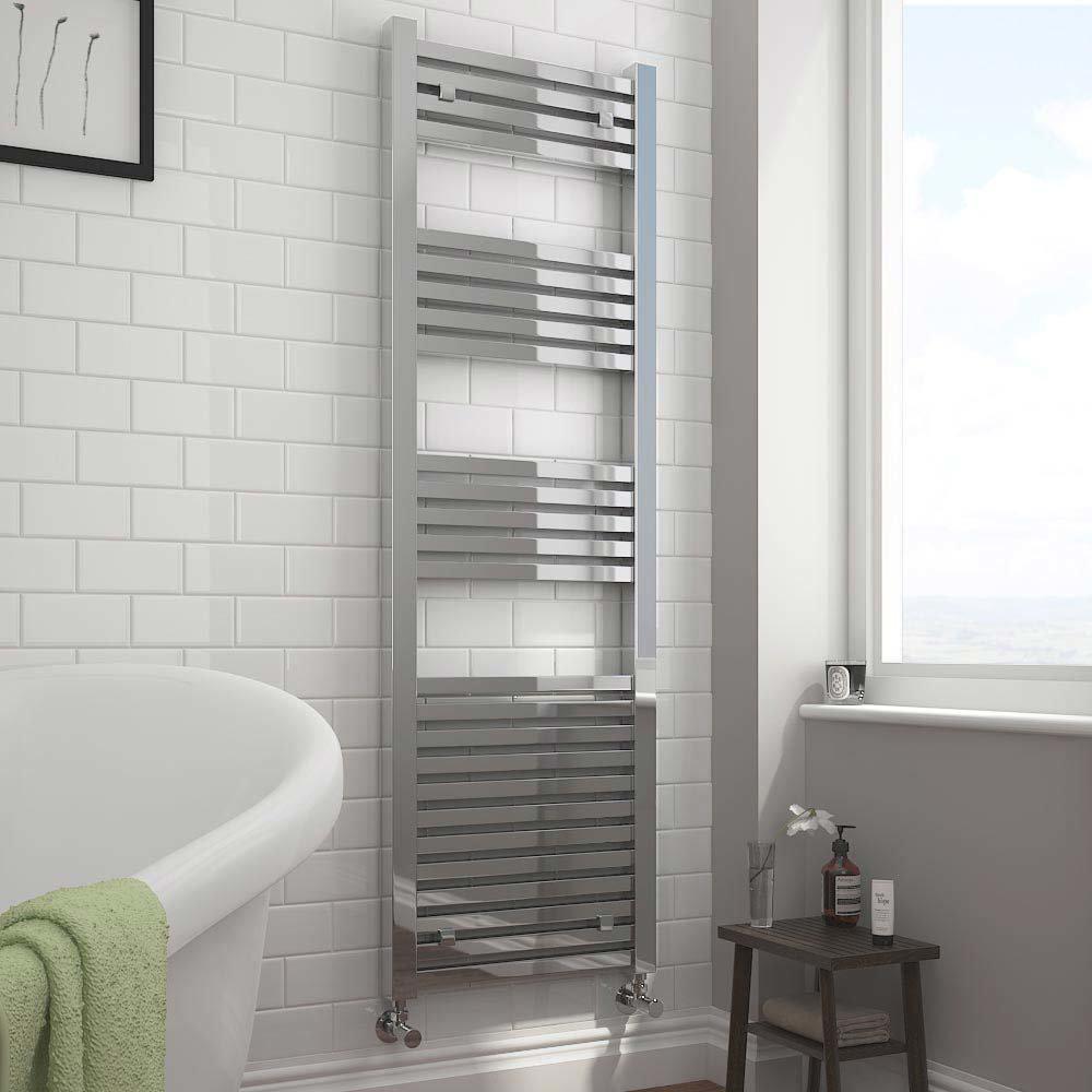 Cube Heated Towel Rail - Chrome (500 x 1600mm)  Profile Large Image