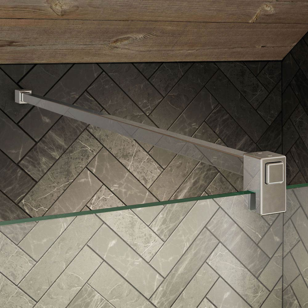 KUDOS Ultimate2 1400 x 800mm 8mm Glass Recess Shower Enclosure profile large image view 2
