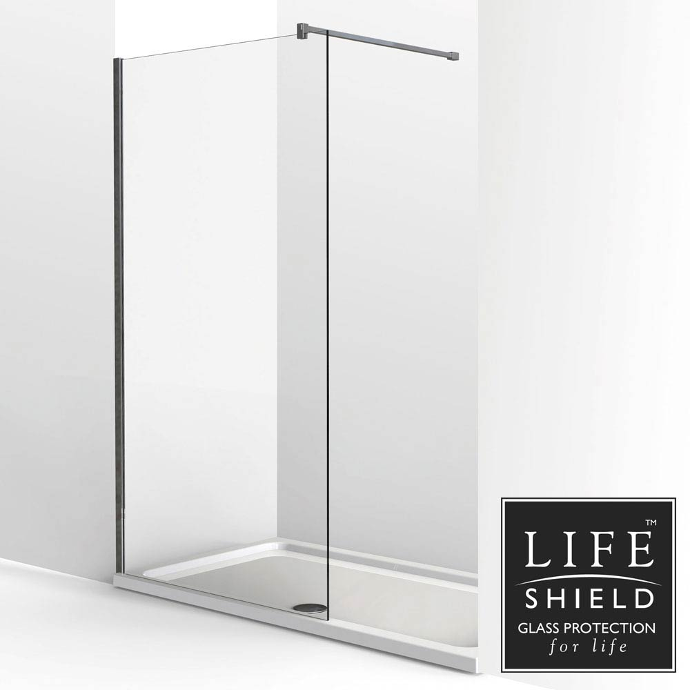KUDOS Ultimate2 1400 x 800mm 8mm Glass Recess Shower Enclosure profile large image view 1
