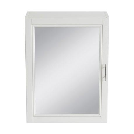 Heritage - Caversham 500mm Mirror Wall Cabinet with Brushed Stainless Steel Handle - Various Colour