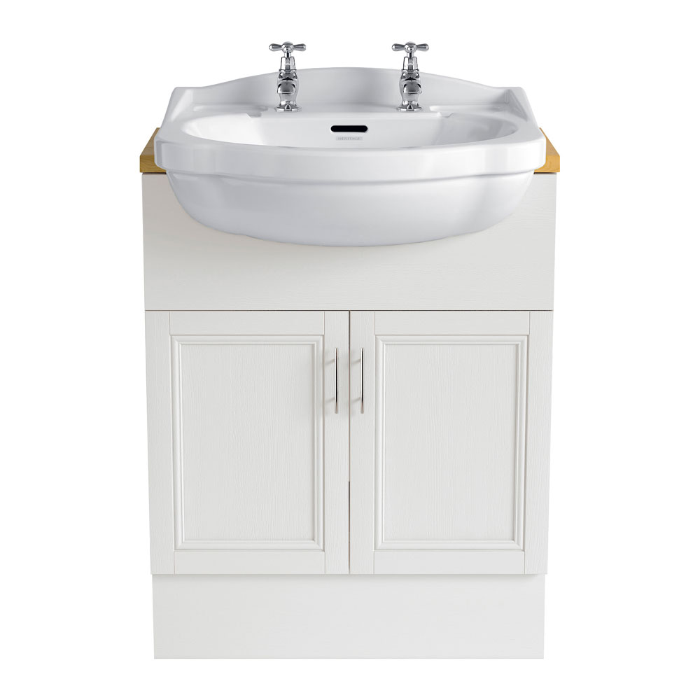 Heritage - Caversham 640mm Vanity Unit with Brushed Stainless Steel Handles - Various Colour Options