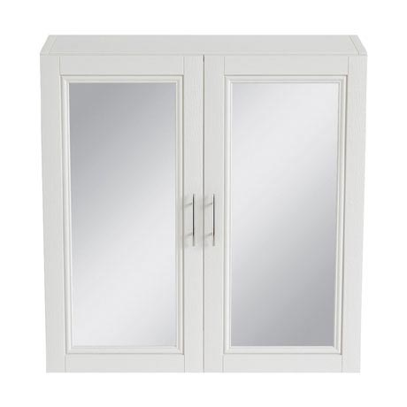 Heritage - Caversham 640mm Mirror Wall Cabinet with Brushed Stainless Steel Handles - Various Colour