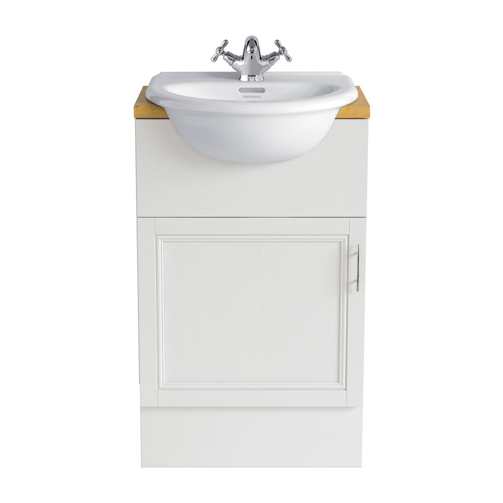 Heritage - Caversham 500mm Vanity Unit with Pewter Handle - Various Colour Options profile large image view 1