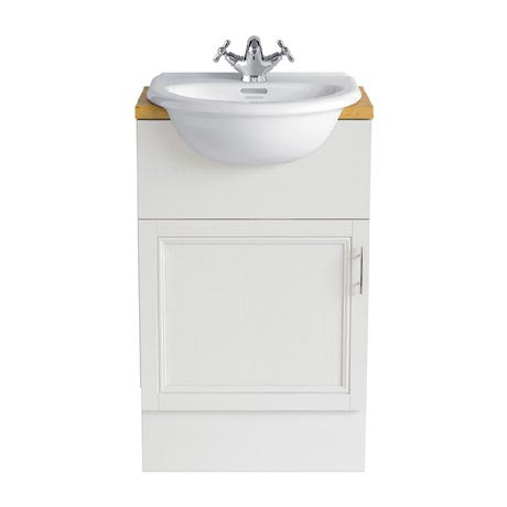 Heritage - Caversham 500mm Vanity Unit with Brushed Stainless Steel Handle - Various Colour Options