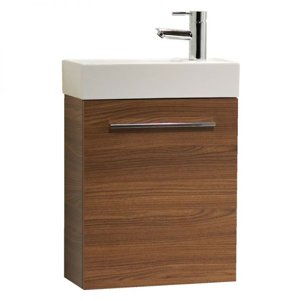 Tavistock Kobe 450mm Wall Mounted Unit & Basin - Walnut Large Image