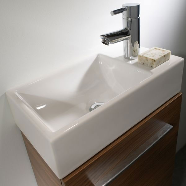 Tavistock Kobe 450mm Wall Mounted Unit & Basin - Walnut Profile Large Image