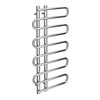 Kai Designer Heated Towel Rail 1000mm x 500mm Chrome profile small image view 1