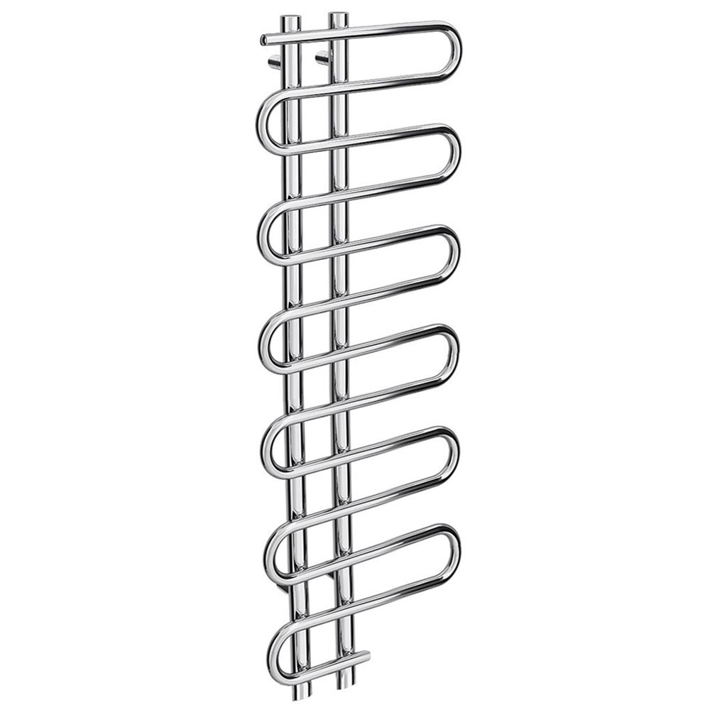 Kai Designer Heated Towel Rail 1310mm x 500mm Chrome Large Image