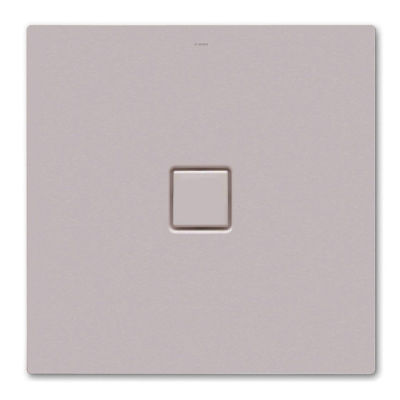 Kaldewei - Avantgarde Conoflat Steel Shower Tray and Waste - Pearl Grey Matt - Various Sizes Large Image