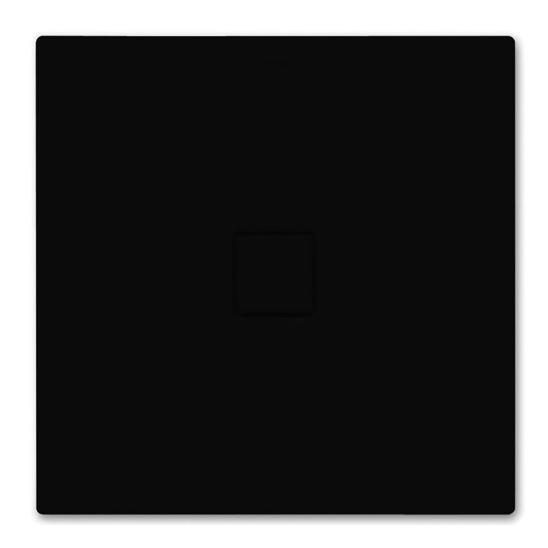 Kaldewei - Avantgarde Conoflat Steel Shower Tray and Waste - Lava Black Matt - Various Sizes profile large image view 1