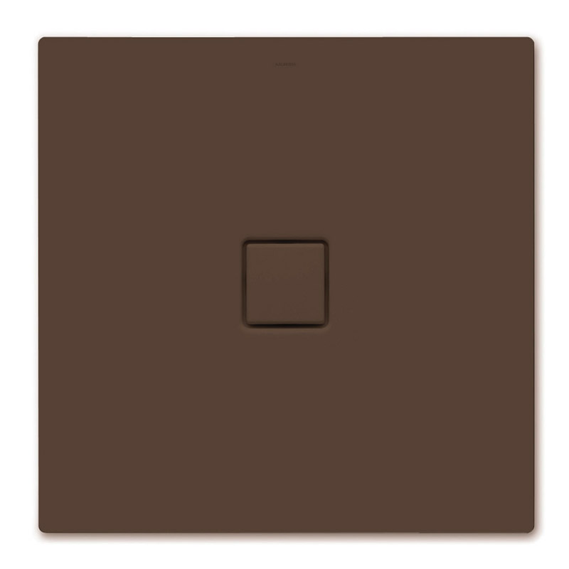 Kaldewei - Avantgarde Conoflat Steel Shower Tray and Waste - Maple Brown Matt - Various Sizes