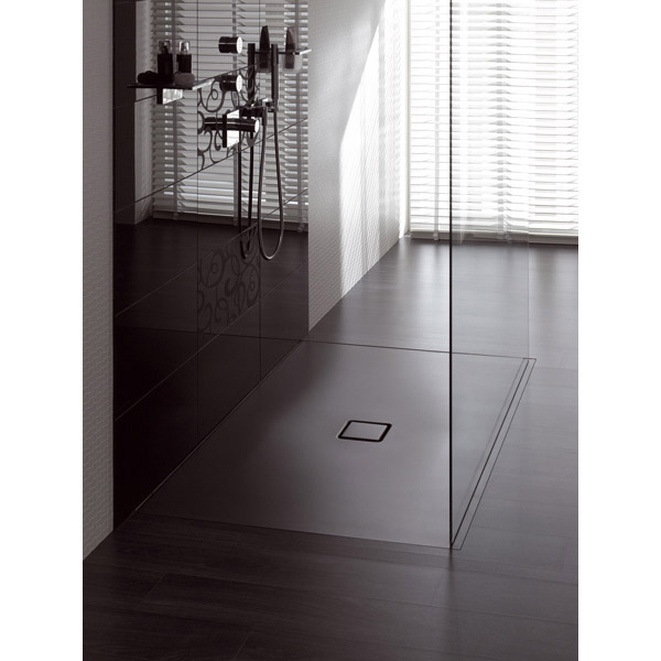 Kaldewei - Avantgarde Conoflat Steel Shower Tray and Waste - Prairie Beige Matt - Various Sizes profile large image view 3