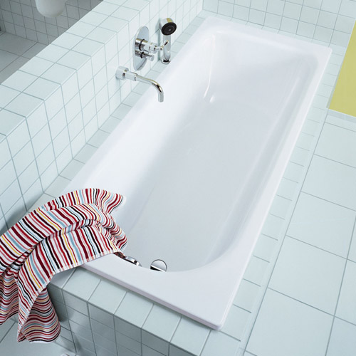 Kaldewei Saniform Plus Steel Enamel Bath with Leg Set 0TH profile large image view 2