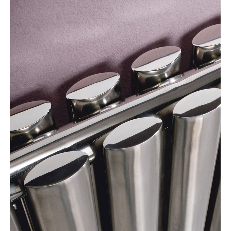 Aspen Double Panel Horizontal Designer Radiator - 6 size options profile large image view 2