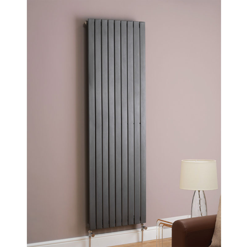 Boston Straight Designer Radiator - Anthracite Large Image
