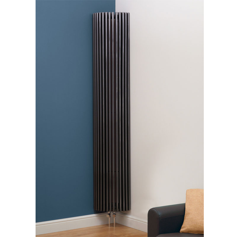 Kansas Vertical Curved Designer Radiator 2000mm X 351mm