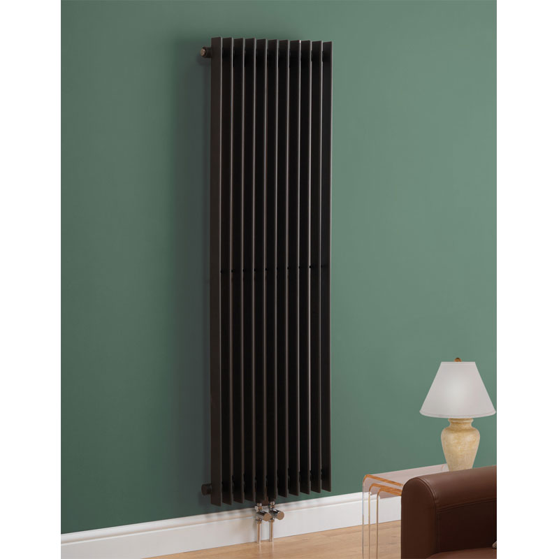 Los Angeles Straight Designer Radiator - 1604mm x 500mm - Anthracite Large Image