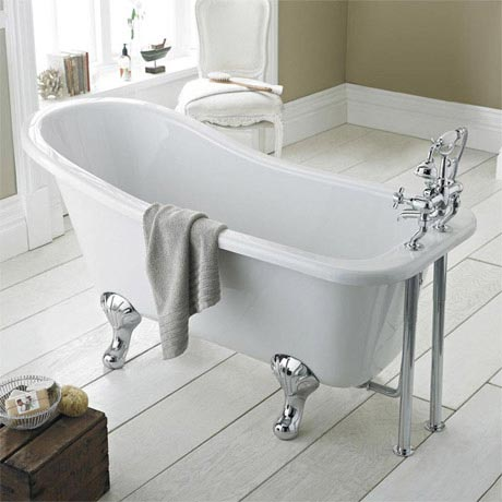 Premier Kensington 1700 Roll Top Slipper Bath Inc. Chrome Leg Set