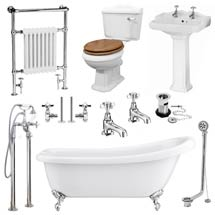 Kensington Traditional Complete Roll Top Bathroom Package (1700mm) Medium Image
