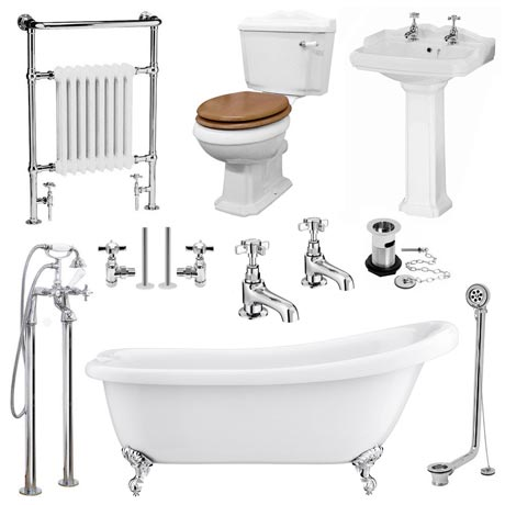 Kensington Traditional Complete Roll Top Bathroom Package (1700mm)