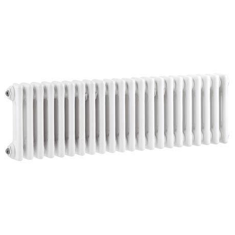 Keswick Cast Iron Style Traditional 2 Column White Radiator (300 x 1340mm)