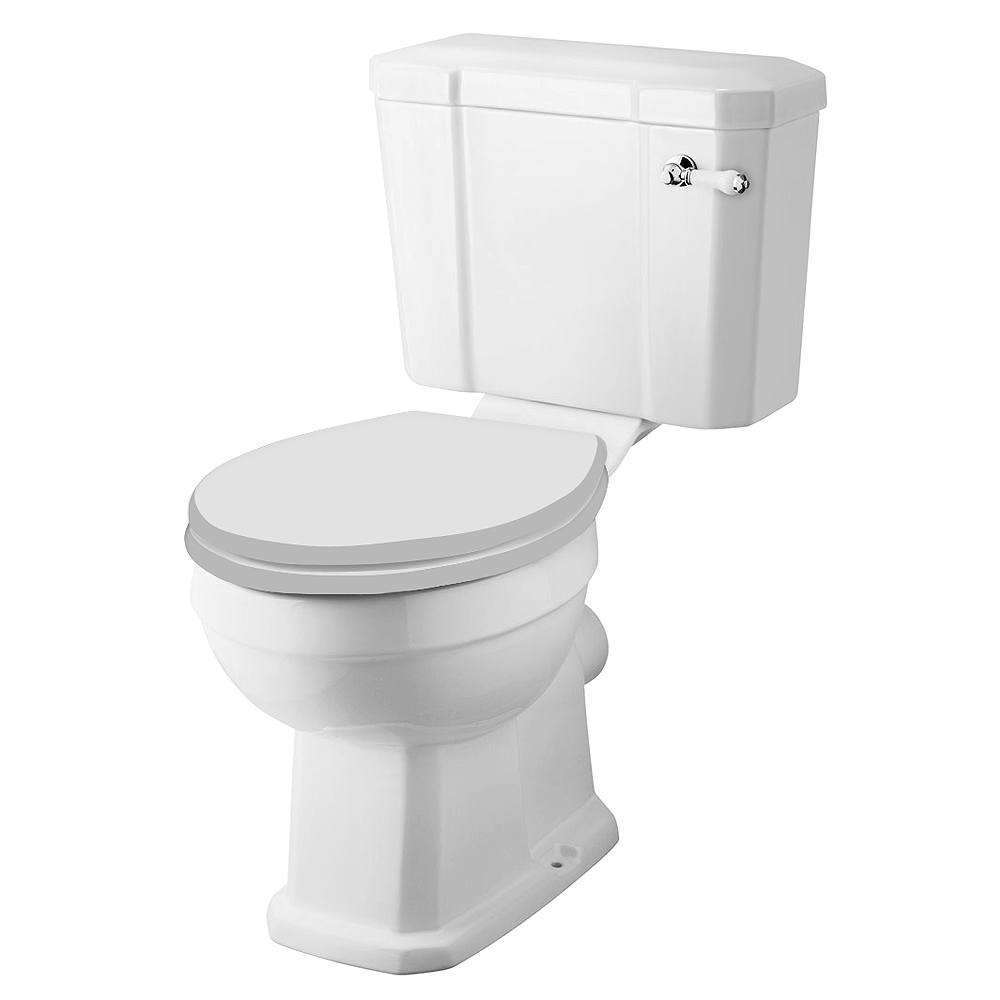 Keswick 4-Piece Traditional Cloakroom Suite - 2 Tap Hole Profile Large Image