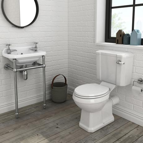 Keswick 4-Piece Traditional Cloakroom Suite - 2 Tap Hole