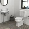 Keswick 4-Piece Traditional Cloakroom Suite - 2 Tap Hole profile small image view 1