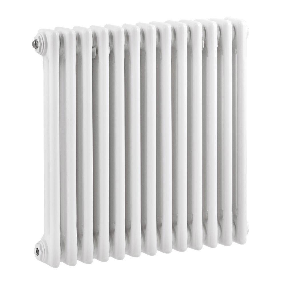 Keswick Cast Iron Style Traditional 2 Column White Radiator (600 x 592mm) Large Image