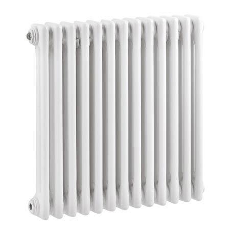 Keswick Cast Iron Style Traditional 2 Column White Radiator (600 x 592mm)