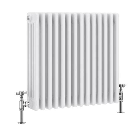 Keswick Cast Iron Style Traditional 4 Column White Radiator (600 x 636mm)