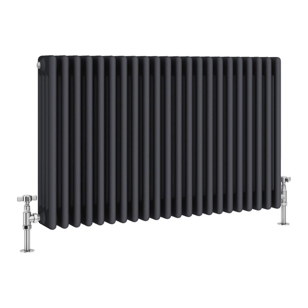 Keswick 600 x 988mm Cast Iron Style Traditional 4 Column Anthracite Radiator