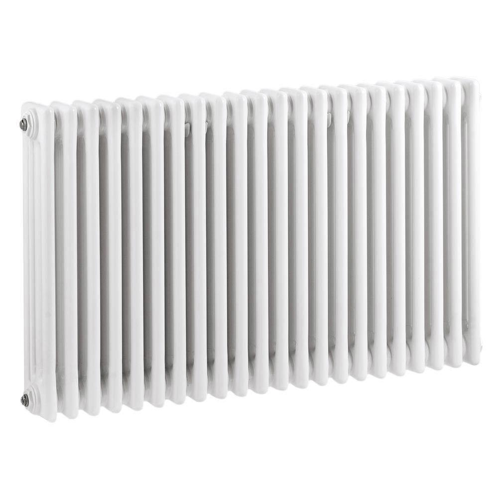 Keswick Cast Iron Style Traditional 4 Column White Radiator (600 x 988mm) Large Image