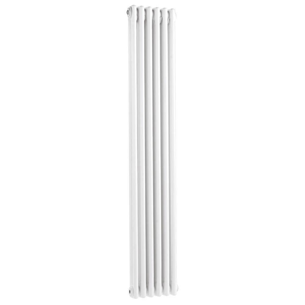 Keswick Cast Iron Style Traditional 2 Column White Radiator (1800 x 372mm Large Image