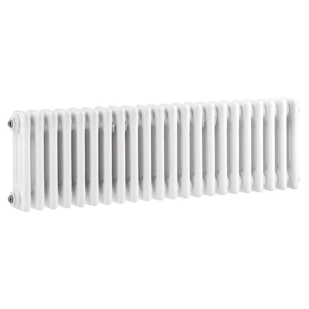 Keswick Cast Iron Style Traditional 3 Column White Radiator (300 x 1355mm) Large Image