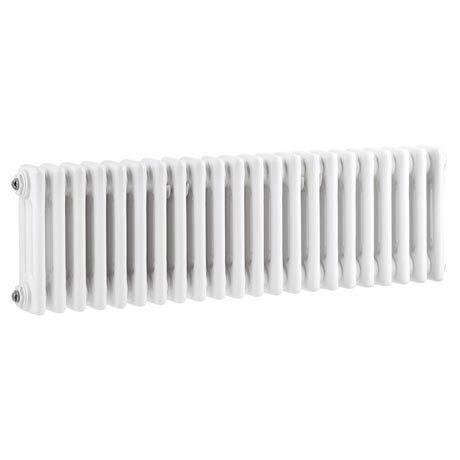 Keswick Cast Iron Style Traditional 3 Column White Radiator (300 x 1355mm)