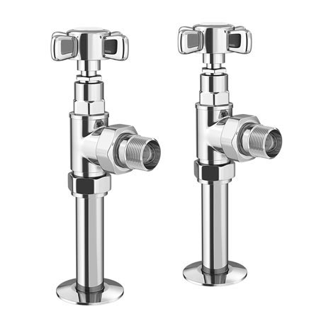 Keswick Chrome Angled Traditional Radiator Valves