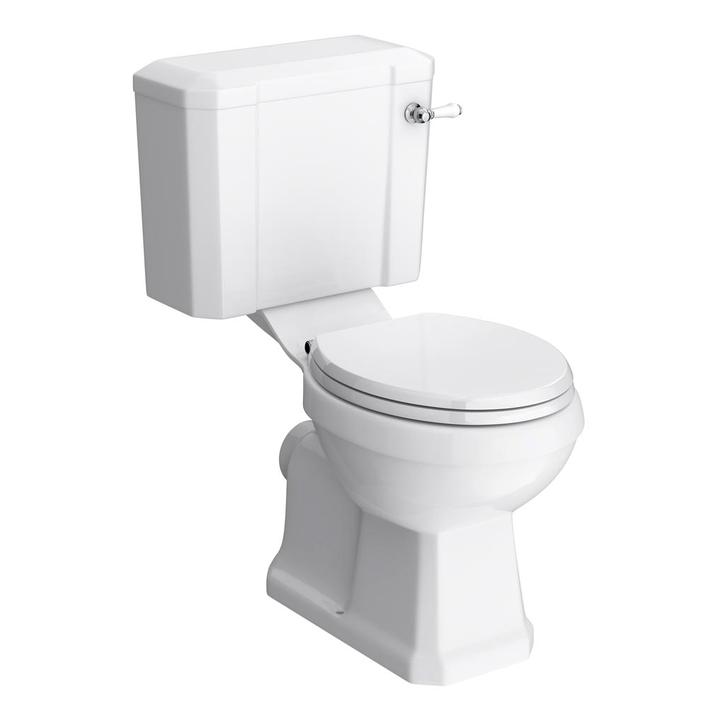 Keswick Traditional Close Coupled Toilet with Soft Close Seat Large Image