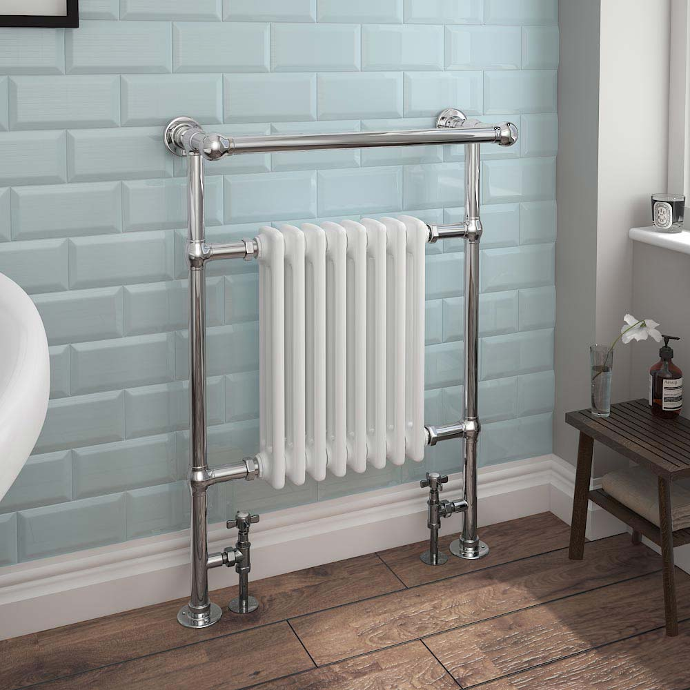 Keswick Traditional Heated Towel Rail Radiator  Profile Large Image