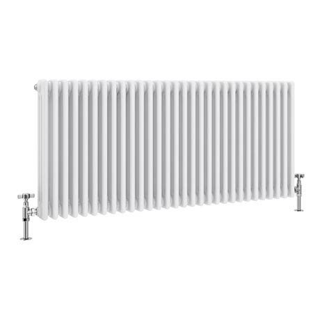Keswick Cast Iron Style Traditional 3 Column White Radiator (600 x 1355mm)