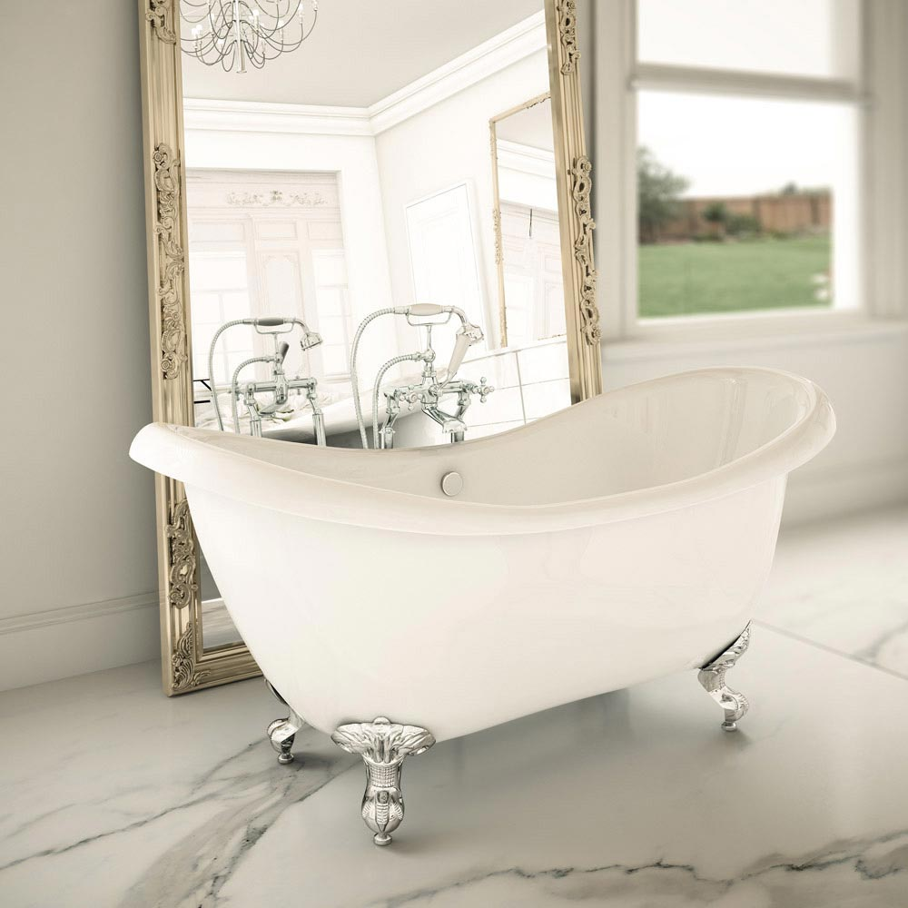 Keswick Traditional Roll Top Bath Suite (1750mm) profile large image view 6