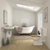 Keswick Traditional Roll Top Bath Suite (1750mm) profile small image view 1