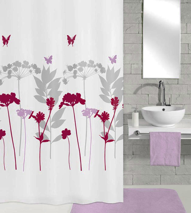 Kleine Wolke Barcelona Berry Polyester Shower Curtain (w 1800mm x h 2000mm)