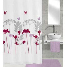 Kleine Wolke - Barcelona Polyester Shower Curtain - W1800 x H2000 - Berry Medium Image