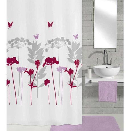 Kleine Wolke - Barcelona Polyester Shower Curtain - W1800 x H2000 - Berry